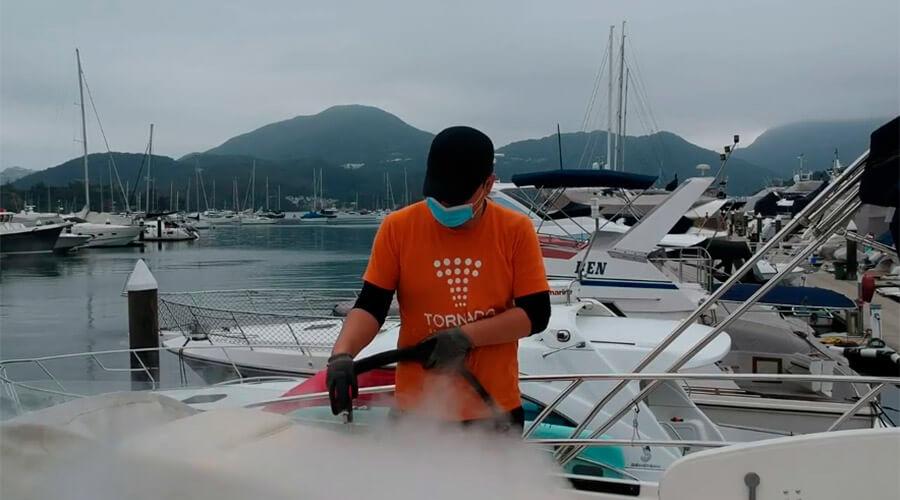 Aplicação de limpeza a vapor em aeronaves e embarcações | Jet Vap - Lavadoras a Vapor