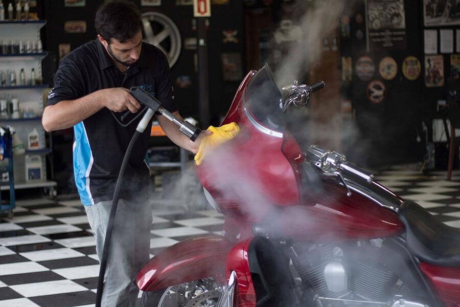 Como o vapor pode ser um grande aliado na limpeza de motos. | Jet Vap - Lavadoras a Vapor